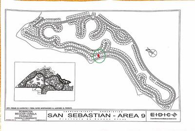 Lote Barrio San Sebastian. Area 9 Escobar