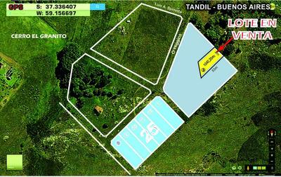 Lote En Tandil - 20x50mts Excepcional Vista Panoramica