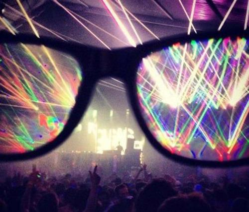 anteojos difractores, gafas para fiestas de electrónica, dj