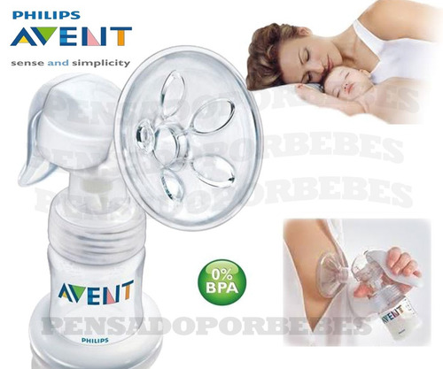 avent philips sacaleche manual natural + kit de accesorios
