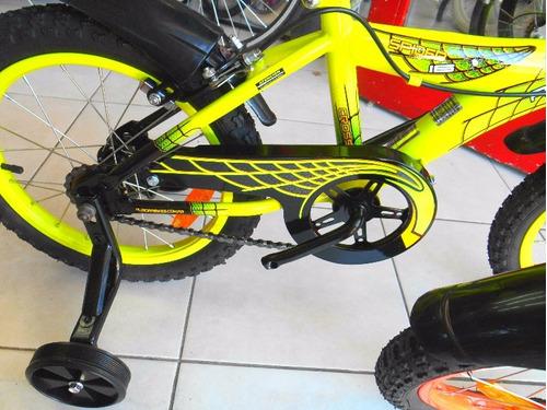 bicicleta aurorita rod 16 spider- nuevo,mod 2016!! c/estabil