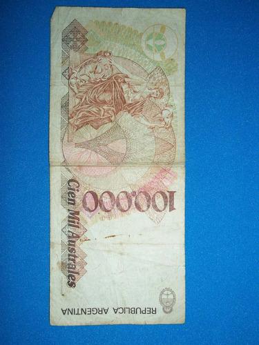 billete antiguo de cien mil australes gonzalez-fraga serie a