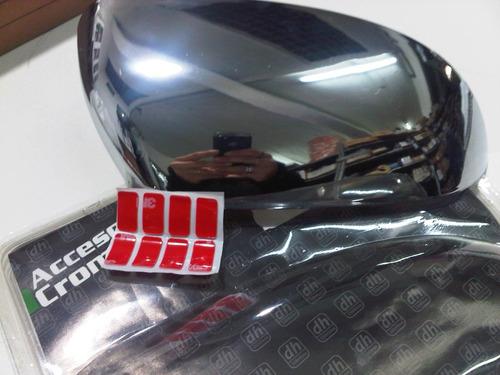 cachas de espejo cromadas chevrolet corsa 2