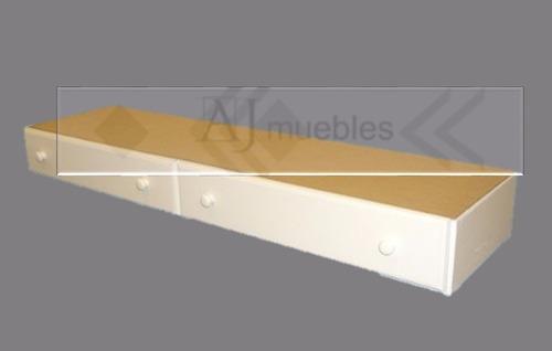 cama americana de 1 plaza y media laqueda blanca ajmuebles