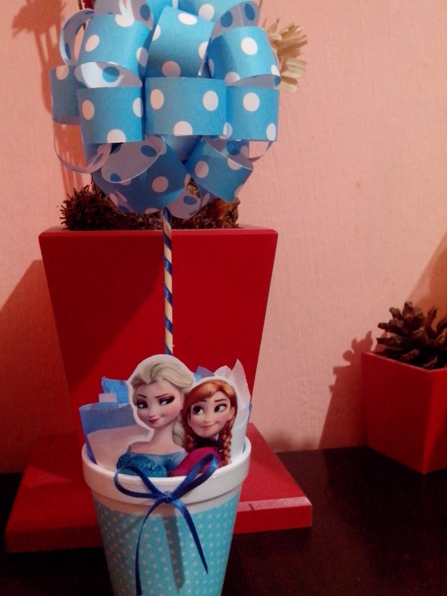 1000 images about frozen party on pinterest frozen birthday party frozen party and frozen - Centros de mesa de frozen ...