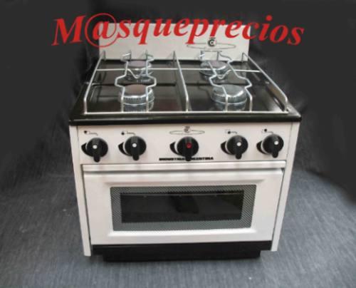 cocina 2 y 4 hornallas con horno frente vidrio