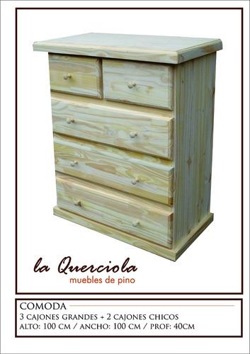 comoda de madera maciza de 1m