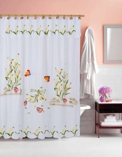 Cortinas de ba o en tela for Modelos de cortinas de bano en tela