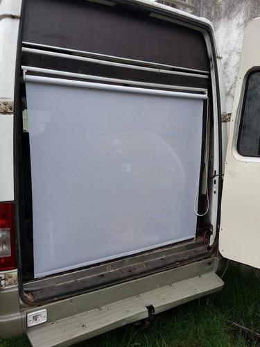 cortina roller  micro perforada 7 %apertur promo blanco
