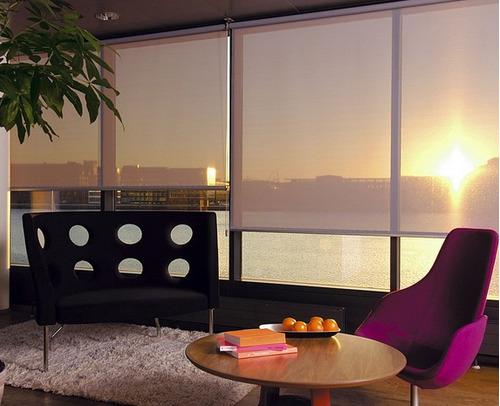 cortinas roller sun screen 5% usa - mermet