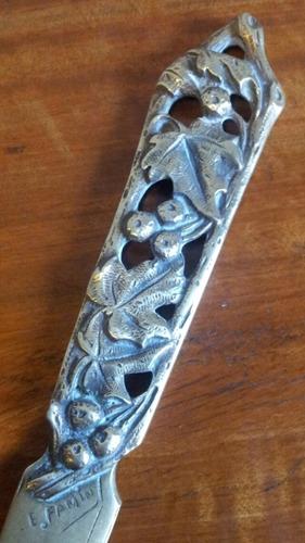 exquisito abrecarta france firmado e: famin bronce cincelado