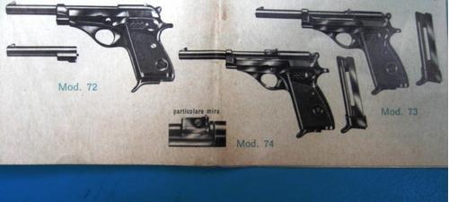folleto pistola y escopeta  beretta italia 1967