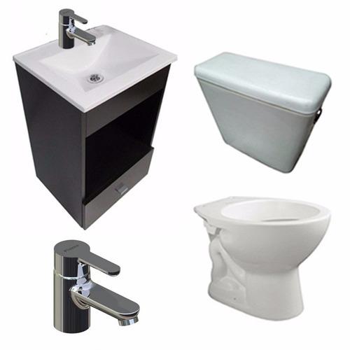 juego baño vanitory inodoro mochila monocomando piazza yvon