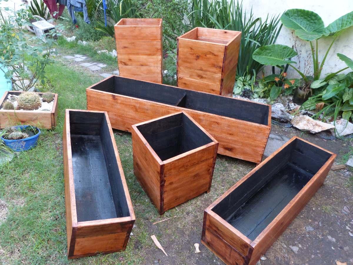 Macetas de madera maceteros de interior - Maceteros de madera ...