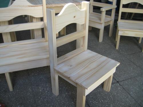 Mesa infantil para chicos ni os madera pino natural - Mesas ninos madera ...