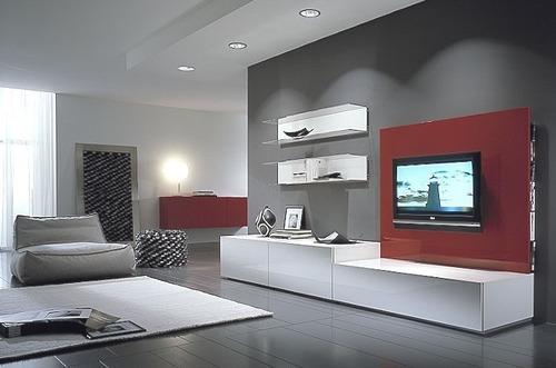 modular moderno rack panel tv lcd living progetto mobili
