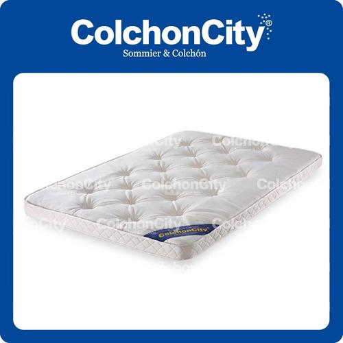 pillow top viscolastico de 10cm espesor. desmontable