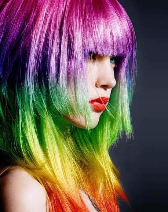 pintura para el pelo el aerosol lavable de colores x12 unid.