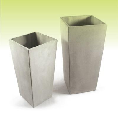 piramidal 60 30 23 - macetas de fibrocemento - cemento ref.
