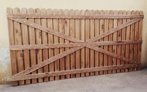 portones de madera