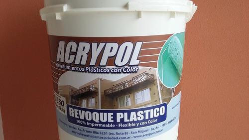 revoque plastico con color x 25kgs - similar revear