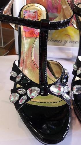 sandalias  importadas de dama con strass