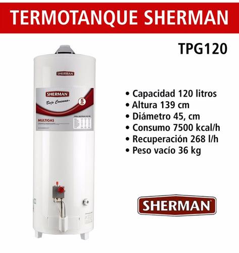 Resultado de imagen para termotanque sherman 120 litros