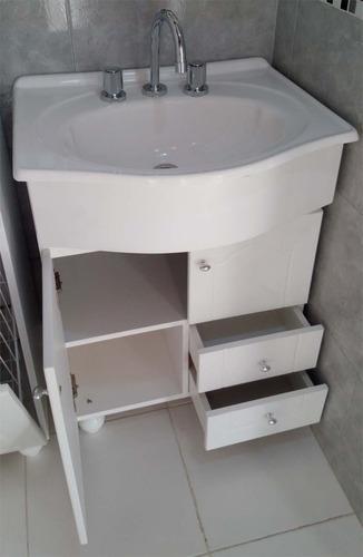 Bachas Para Baño Pintadas:Vanitory Madera Baño Bacha Marmolina Cajones 60 Cm Vanitorys – $ 1
